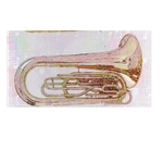 Adamson Marching Tuba 4 Valve Silver Plated #AMTU-430S