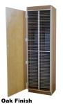 Tall 100 Slot Choral Folio Cabinet with Doors #CFC-T100D