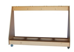 Four Unit Bass Storage Rack - Maple