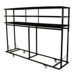 "Melhart  96"" Deluxe Uniform Rack with Overhead (Hat) Storage"