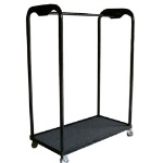 "Melhart  96"" Rolling Uniform Rack"