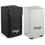 Stagg Small Sized Cajon White #CAJ40SWH