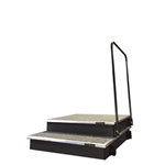 Melhart Modern Conductor Podium - Dual Stacking w Carpet