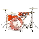 Pearl Crystal Beat 4Pc Acrylic Shell Kit Ruby Red