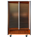 58 Slot Choral Mobile Folio Cabinet with Storage Below