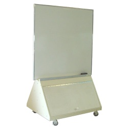 Portable white Board w/Storage 4' x 6'