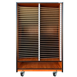 Melhart 58 Slot Choral Mobile Folio Cabinet with Storage Below